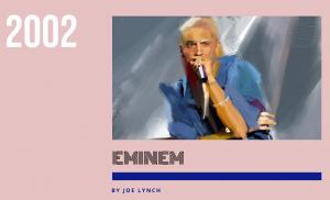 エミネム、ビルボード誌による2002年音楽界の顔に